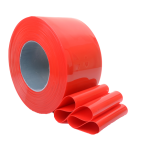 Red PVC Strip Roll