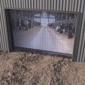 Agricultural plastic strip curtains
