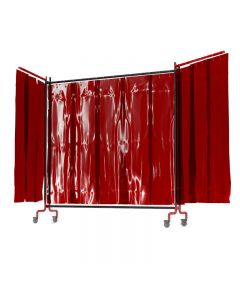 Red Welding Grade PVC Welding Screen With Frame - Weldflex
