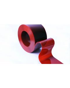 Red Welding Grade PVC Strip Rolls  - 50m