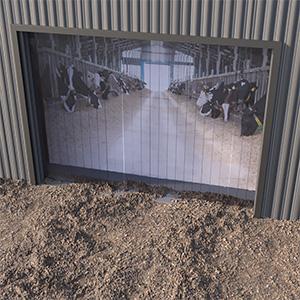 agricurtural pvc strip curtains